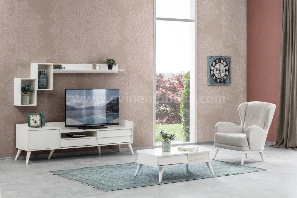 Luna Tv Ünitesi Beyaz